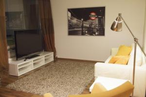 A television and/or entertainment center at Helsinki Rentals Everstinkuja
