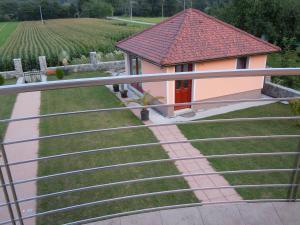 Balkon oz. terasa v nastanitvi Villa Franca Postojna