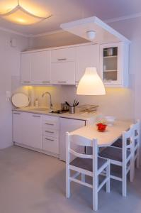 A kitchen or kitchenette at Milos Bay Suites