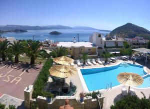 A view of the pool at Aretousa or nearby