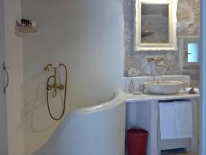 Kylpyhuone majoituspaikassa Critamo Cottage