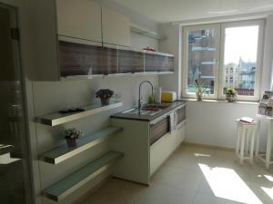 Cuisine ou kitchenette dans l'établissement ABC Apartment