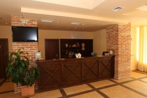 The lobby or reception area at Galeria Holiday Apartments