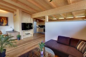 Ein Sitzbereich in der Unterkunft Appartements Coloman