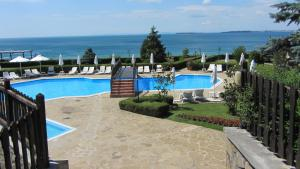 A view of the pool at Manastira Vlas Apartments or nearby