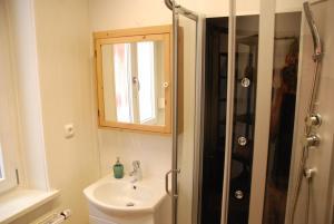 Ein Badezimmer in der Unterkunft Ferienwohnung Ratisbona