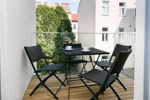 מרפסת או טרסה ב-Vienna Stay Apartments Castellez 1020