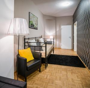 A bunk bed or bunk beds in a room at Apartment Napoleon