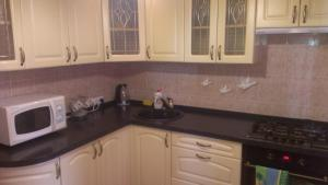 A kitchen or kitchenette at Plaza City Apartments
