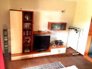 A television and/or entertainment center at Honey House