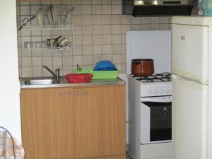 A kitchen or kitchenette at Appartamento dei Sargassi