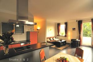 Küche/Küchenzeile in der Unterkunft Veh-Studios