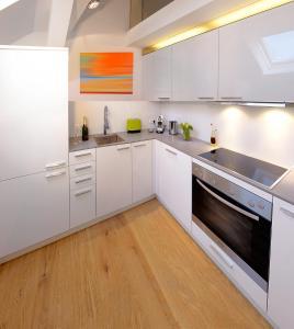 Küche/Küchenzeile in der Unterkunft Apartments Wolf Dietrich
