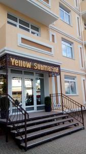 The facade or entrance of Yellow Submarine