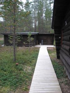 Puutarhaa majoituspaikan Posio Cottage Tervatupa ulkopuolella