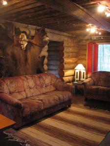 Oleskelutila majoituspaikassa Posio Cottage Tervatupa