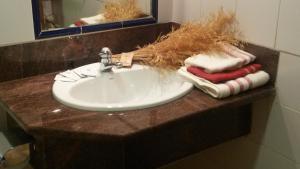 A bathroom at Alojamientos La Dehesa
