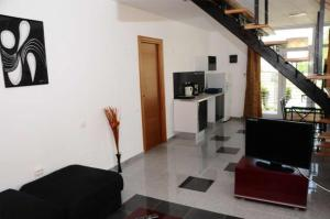 Un televizor și/sau centru de divertisment la Apartment Vila Cube