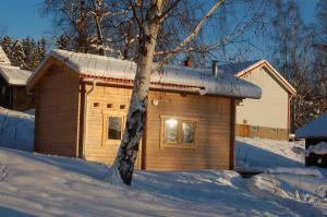 Prostgårdsvägen 11 Cabin during the winter