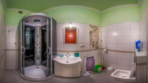 Koupelna v ubytování Apartment Elizaveta