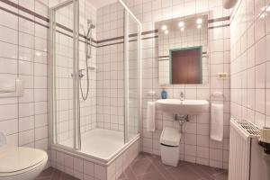 A bathroom at Aparthotel Minor