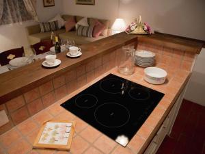 A kitchen or kitchenette at Apartment Casa Argento