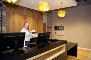 The lobby or reception area at Staycity Aparthotels Birmingham Central Newhall Square