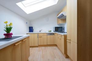 A kitchen or kitchenette at Haus Gebhard
