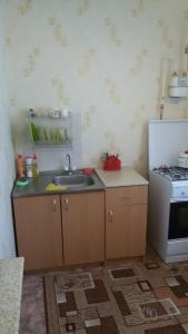 A kitchen or kitchenette at Apartamenty Zakirova
