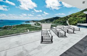 A balcony or terrace at Crystal Villa