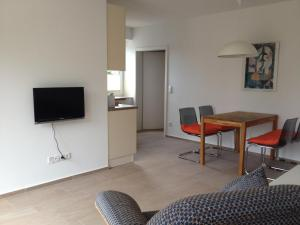 TV/Unterhaltungsangebot in der Unterkunft Ferienwohnung zum Breitling