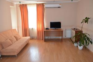 Телевизор и/или развлекательный центр в Просторные апартаменты на Чернышова