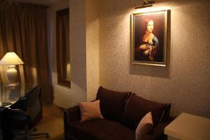 Svetainės erdvė apgyvendinimo įstaigoje President Apartments by WarsawResidence Group