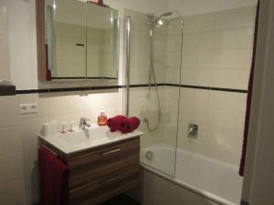 Ein Badezimmer in der Unterkunft Ferienwohnung Bäumchen