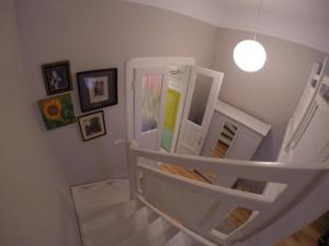 Ein Etagenbett oder Etagenbetten in einem Zimmer der Unterkunft RumbArt Apartman