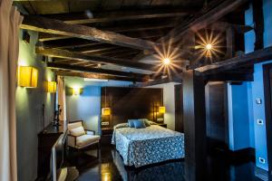 Cama o camas de una habitación en La Plaza