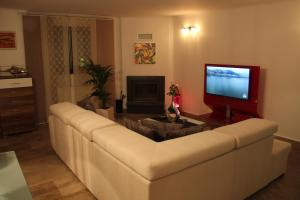 A television and/or entertainment center at Studio 48