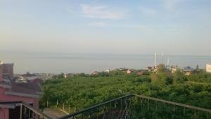Jūros panorama iš vilos arba bendras jūros vaizdas