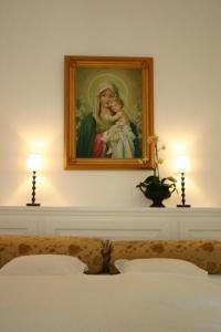 Ein Bett oder Betten in einem Zimmer der Unterkunft Villa Kumpf