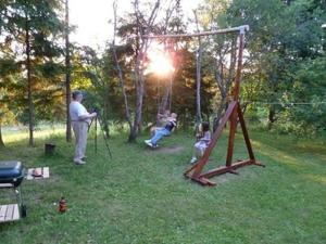 Children's play area at Brīviņi