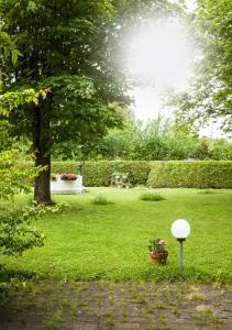 O grădină în afara Ferienwohnungen Grimm