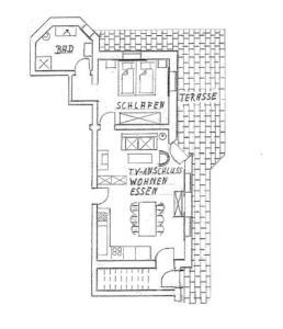 The floor plan of Ferienwohnung Ott