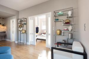 A kitchen or kitchenette at 47 Luxury Suites