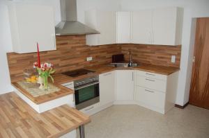 Küche/Küchenzeile in der Unterkunft Ferienwohnungen Unterluimes