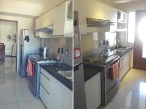 A kitchen or kitchenette at Apartamento Equipetrol