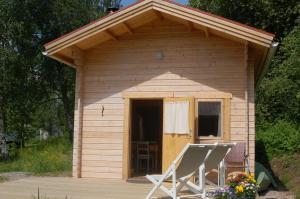 A porch or other outdoor area at Prostgårdsvägen 11 Cabin