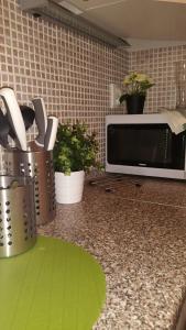Η κουζίνα ή μικρή κουζίνα στο Dlouha Apartments City Center