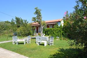 A porch or other outdoor area at Mr. Greek Villa