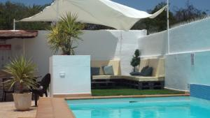 A patio or other outdoor area at Villa Bonita