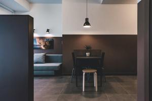 Una cocina o zona de cocina en Apartamentos Salbide Zarautz